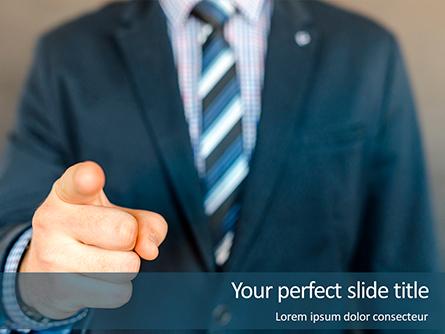 Businessman Points His Finger at You Presentation Presentation Template, Master Slide