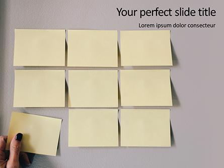 Nine Yellow Sticker Notes Presentation Presentation Template, Master Slide