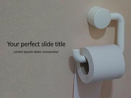 Roll of Toilet Paper in The Holder Presentation Presentation Template, Master Slide