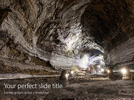 Room and Pillar Mining Presentation Presentation Template, Master Slide