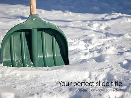 Green Snow Shovel Presentation Presentation Template, Master Slide