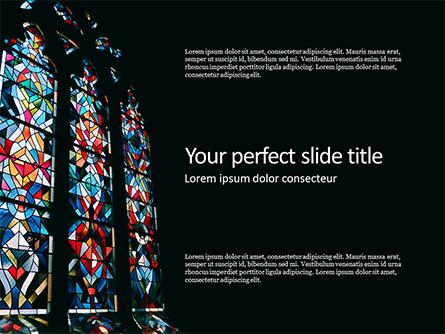 Basilica Stained Glass Window Presentation Presentation Template, Master Slide