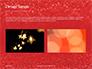 Glowing Red Glitter Texture Background Presentation slide 11