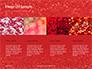 Glowing Red Glitter Texture Background Presentation slide 16