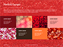 Glowing Red Glitter Texture Background Presentation slide 17