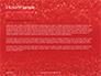 Glowing Red Glitter Texture Background Presentation slide 4