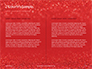Glowing Red Glitter Texture Background Presentation slide 5