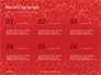 Glowing Red Glitter Texture Background Presentation slide 8