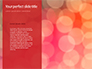 Glowing Red Glitter Texture Background Presentation slide 9