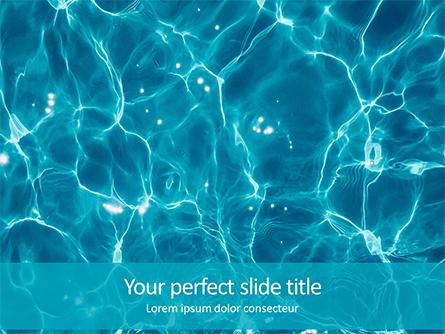 Blue Water Ripple Background Presentation Presentation Template, Master Slide