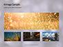 Silver Sparkling Lights Festive Background Presentation slide 13