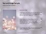 Silver Sparkling Lights Festive Background Presentation slide 15