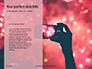Silver Sparkling Lights Festive Background Presentation slide 9