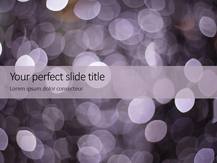 Silver Sparkling Lights Festive Background Presentation Presentation Template, Master Slide