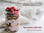 Filled Mason Jar with Granola and Yogurt Presentation slide 1
