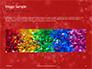 Silver Shine Stars Lights Swirl on Red Background Presentation slide 10