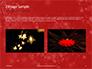 Silver Shine Stars Lights Swirl on Red Background Presentation slide 11