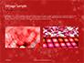 Silver Shine Stars Lights Swirl on Red Background Presentation slide 12