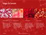 Silver Shine Stars Lights Swirl on Red Background Presentation slide 16
