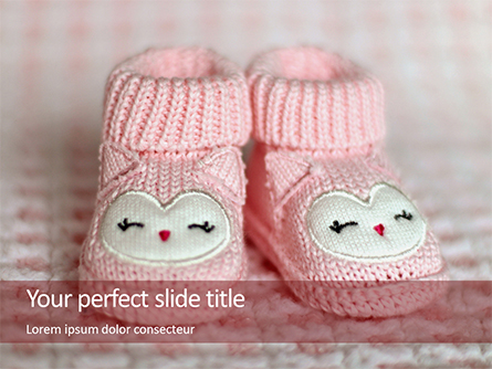 Pink Baby Boots Presentation Presentation Template, Master Slide