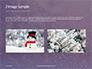 Falling Snow Background Presentation slide 11