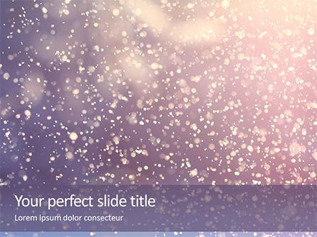 Falling Snow Background Presentation Presentation Template, Master Slide