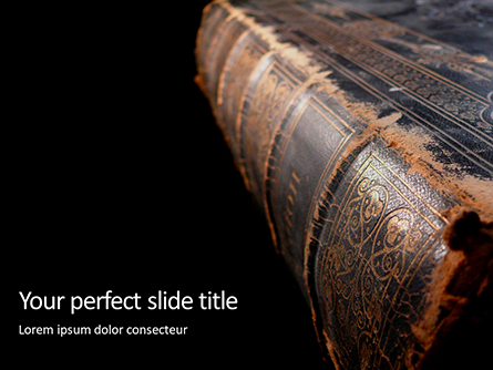 Old Bible in Shabby Book Cover Presentation Presentation Template, Master Slide