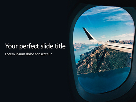 White Airplane Wing Presentation Presentation Template, Master Slide