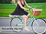 Barefoot Woman Riding Bicycle Presentation slide 1