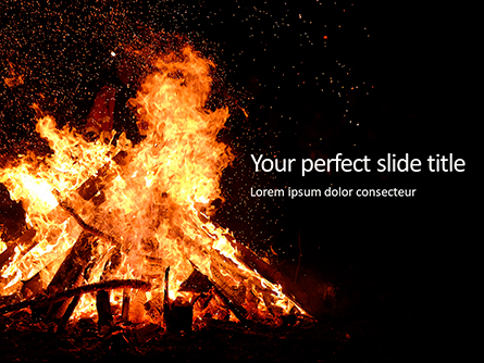 Night Bonfire Presentation Presentation Template, Master Slide