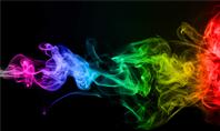 Beautiful Colorful Smoke on Black Background Presentation Presentation Template