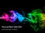 Beautiful Colorful Smoke on Black Background Presentation slide 1