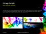 Beautiful Colorful Smoke on Black Background Presentation slide 12