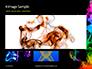 Beautiful Colorful Smoke on Black Background Presentation slide 13