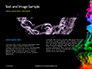 Beautiful Colorful Smoke on Black Background Presentation slide 14