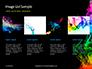 Beautiful Colorful Smoke on Black Background Presentation slide 16