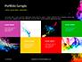 Beautiful Colorful Smoke on Black Background Presentation slide 17