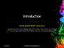 Beautiful Colorful Smoke on Black Background Presentation slide 3