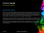 Beautiful Colorful Smoke on Black Background Presentation slide 4