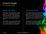 Beautiful Colorful Smoke on Black Background Presentation slide 5