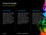Beautiful Colorful Smoke on Black Background Presentation slide 6