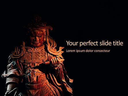 Samurai Sculpture Presentation Presentation Template, Master Slide