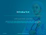 Cheerful Woman Physician in Blue Coat Against Turquoise Background Presentation slide 3