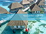 Beautiful Tropical Resort Bungalows Presentation slide 1