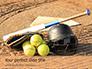 Softball Bat Helmet and Glove on Base Presentation slide 1