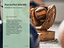 Softball Bat Helmet and Glove on Base Presentation slide 9