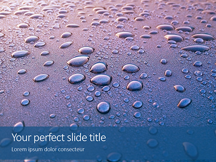 Water Droplets on Ceramic Surface Presentation Presentation Template, Master Slide