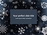 Snowflakes on Dark Background Presentation slide 1