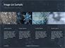 Snowflakes on Dark Background Presentation slide 16