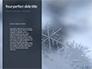 Snowflakes on Dark Background Presentation slide 9
